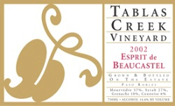 Tablas creek Esprit de Beaucastle